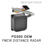 PD300 FMCW distance measuring radar for loop replacement and presence detection